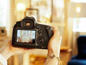 Fotografía inmobiliaria con cámara