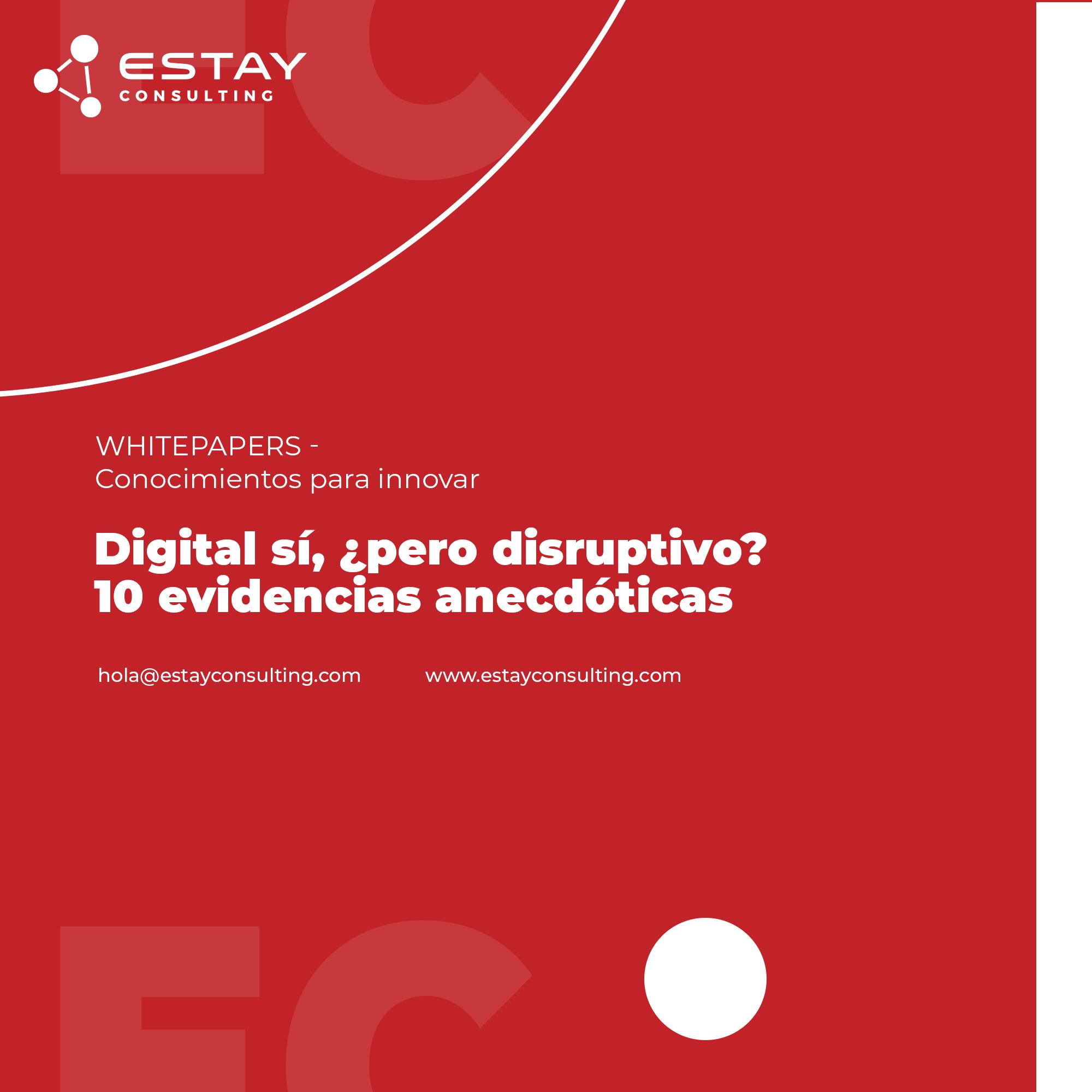 Digital si, ¿pero disruptivo?
